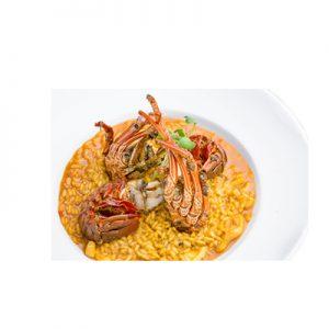arroz viera con salsa bogavante